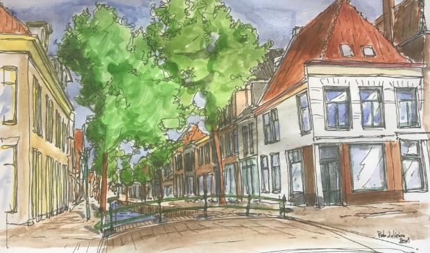 <p>De Historische Vereniging Alkmaar pleit voor water aan de Laat.</p>