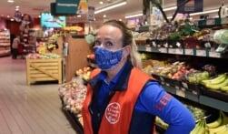 Positief stimuleren dragen mondmasker helpt!