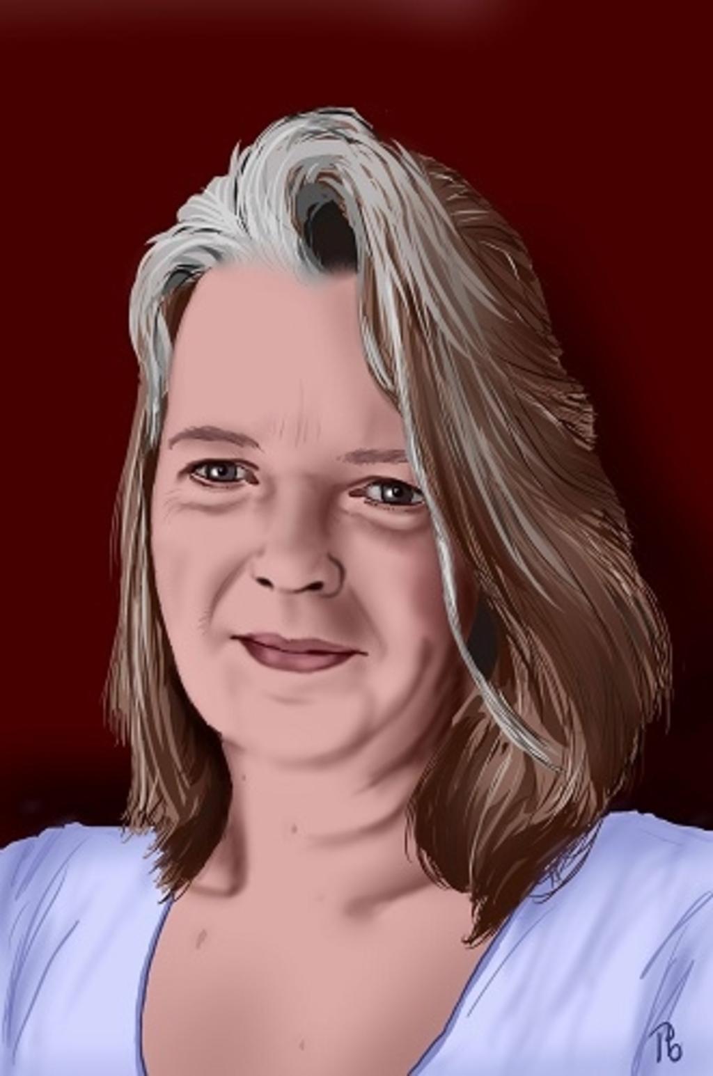 Zelfportret van schrijver en illustrator Patricia Bouwhuis. (Foto: Uitgeverij Pica) © rodi