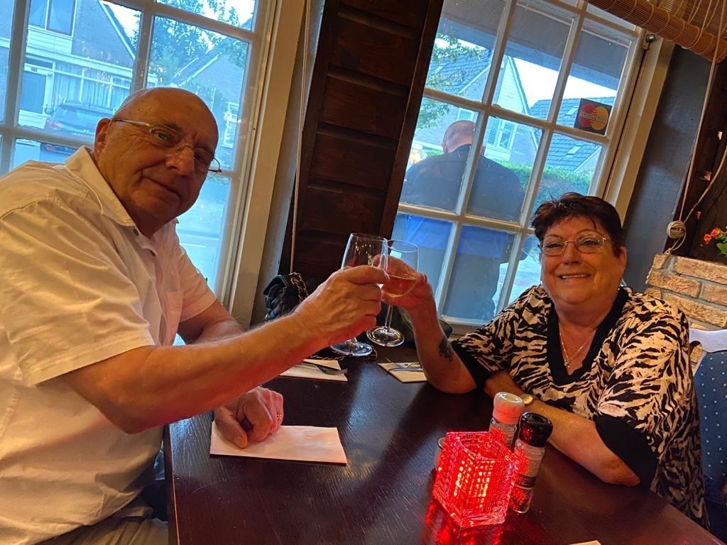 Opa Teun en oma Marjo.  (Foto: Aangeleverd) © rodi