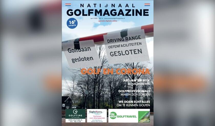 De prijswinnende corona-editie van het Nationaal Golfmagazine.