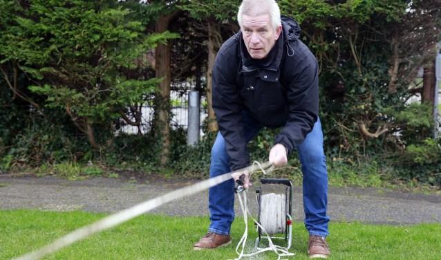 Jan Visser is ook lid van de onderhoudsploeg die iedere maandagochtend de boel schoon maakt.