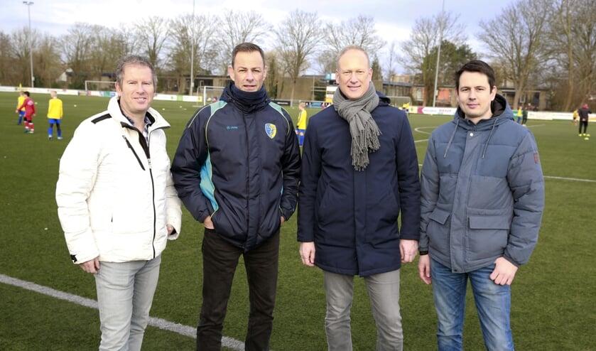 Het jeugdbestuur van LSVV, Van rechts naar links: Maarten Steffers, Paul van Uitert, Marco Bakkum en Raymond Bruin.