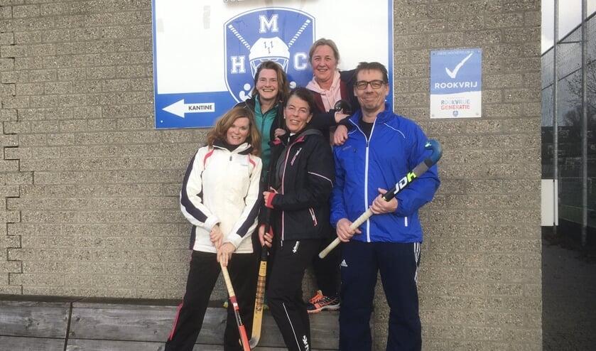 Een aantal Trimhockey leden van MHCP