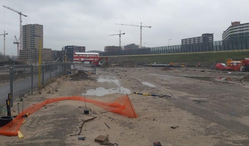 Het bouwterrein ligt klaar om te beginnen.