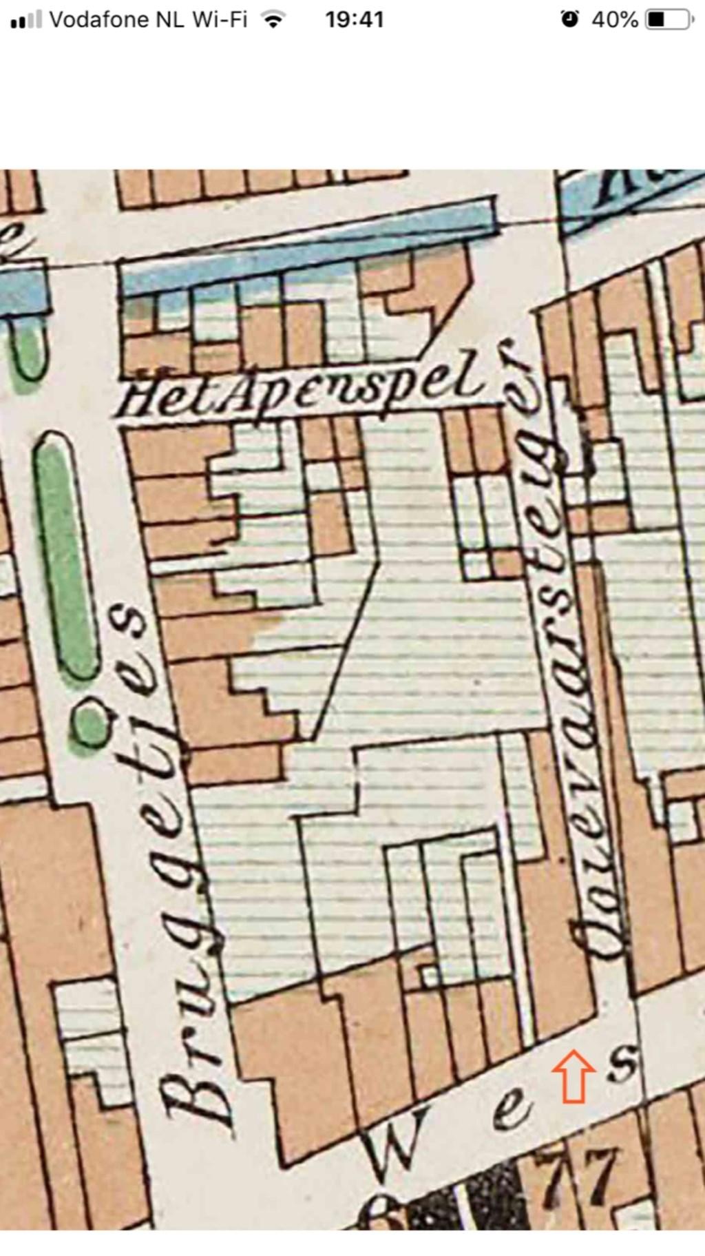 Detail stadsplattegrond uit 1902.  (Foto: Aangeleverd) © rodi