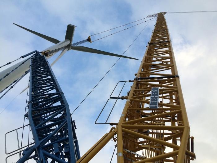 Windenergie opwekken.