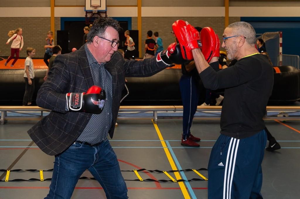 Mario Hegger pakte de (boks)handschoen op. (Foto: Han Giskes) © rodi