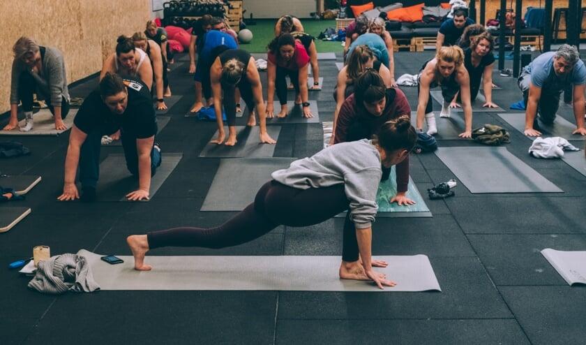 Yoga Crossfit met Liesbeth Pauwels.