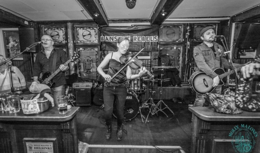 Irish folkband The Banshee Rebels.