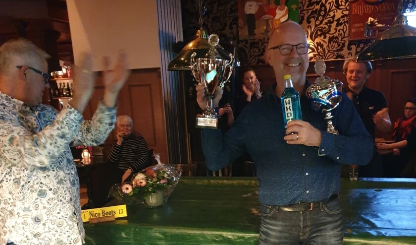 Nico Boots is driebanden kampioen in Wognum.