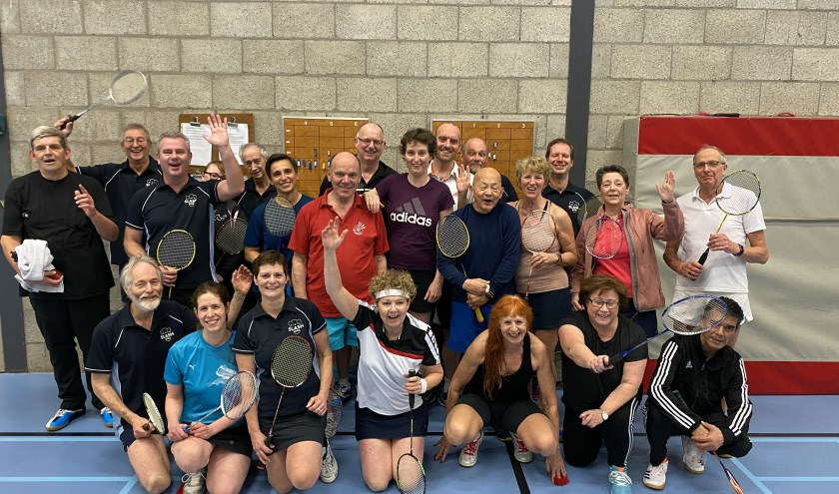 Leden van badmintonclub RBC Slash.