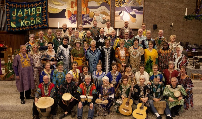 Het Jambo-koor verzorgt een bijzondere muzikale bijdrage.