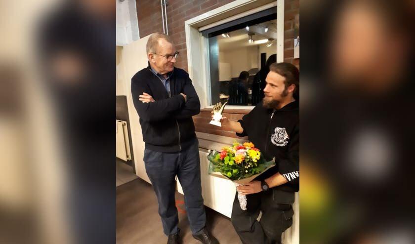 Cees Koomen was blij verrast met de prijs.