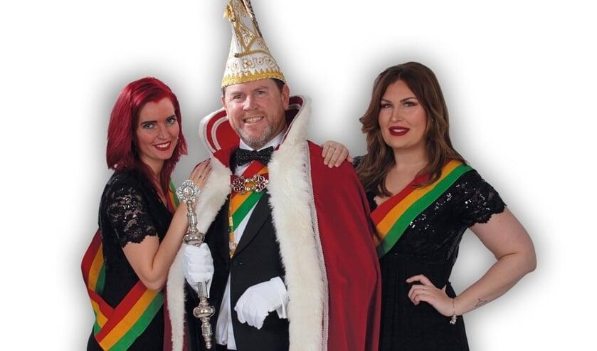 Prins Edwin I met zijn hofdames Lidewij en Dominique.