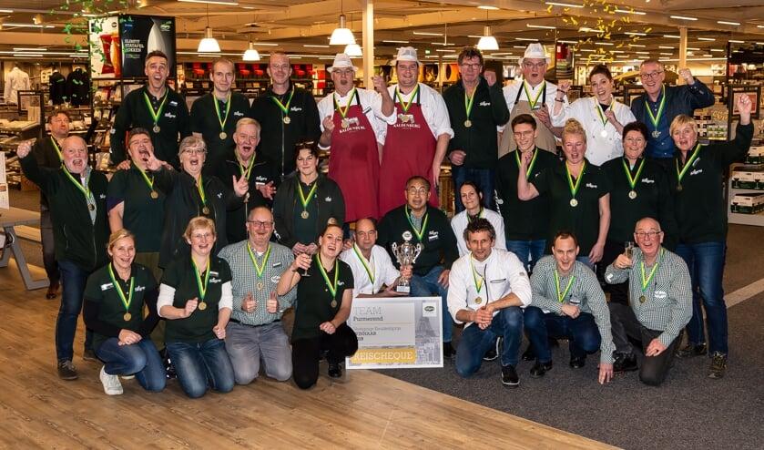 Het apetrotse team van Sligro Purmerend leverde een topprestatie in 2019.