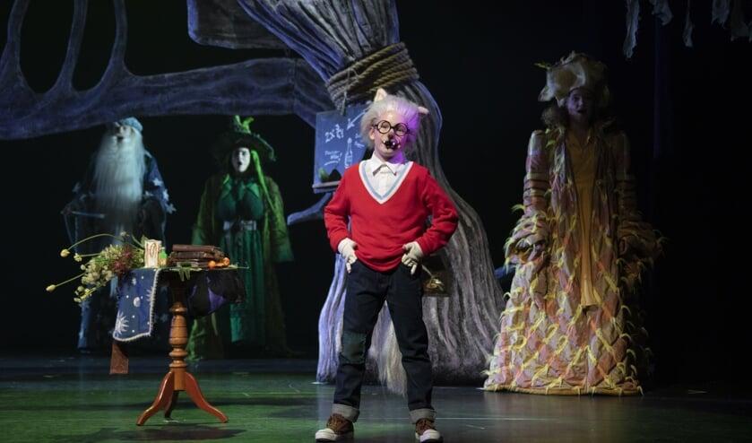 Scène uit de voorstelling 'Dolfje Weerwolfje'.