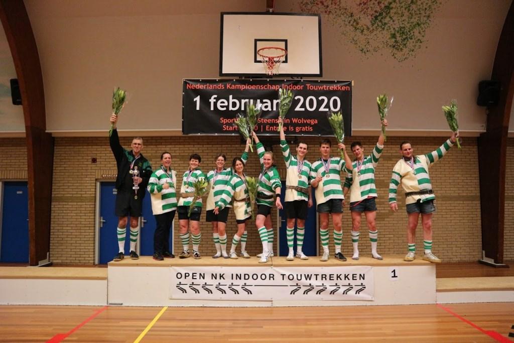 Na het NK is het seizoen voor de touwtrekclub nog niet ten einde. Van 20 tot en met23 februari vindt het wereldkampioenschap touwtrekken plaats in Letterkenny, Ierland.  (Foto: aangeleverd) © rodi