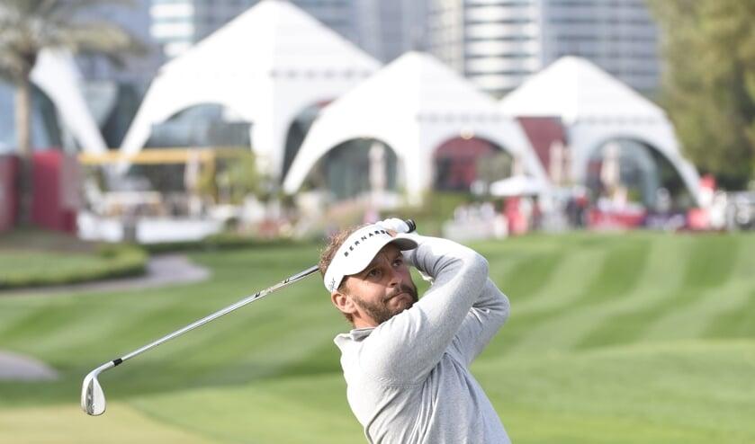 Luiten in actie in de Dubai Desert Classic. ,,De laatste ronde daar had ik het heel moeilijk.''