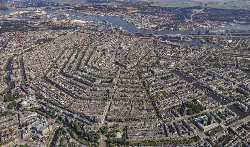 Prachtig uitzicht over Amsterdam.