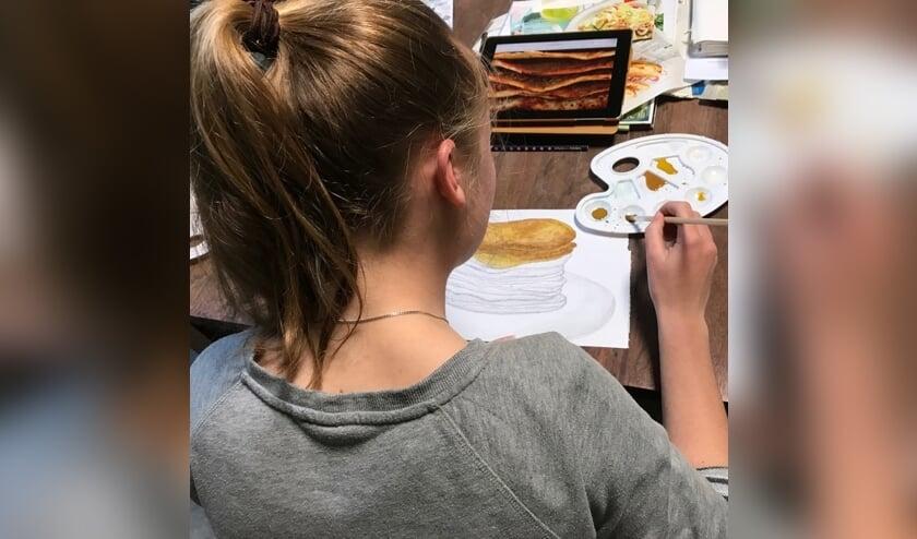 Teken- en scilderlessen voor tieners bij Toverzicht.