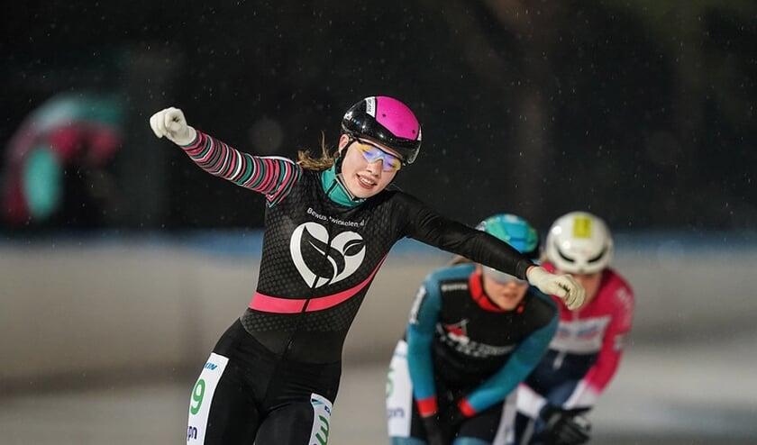 Roos Markus in actie voor haar huidige team. (Foto Timsimaging)