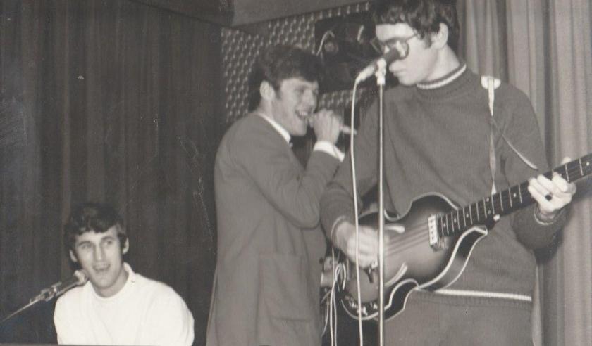 21-12-1968 tweede bezetting Everyman. Jack Beneker, Jan Oudhuis, Rob Lagerveld.
