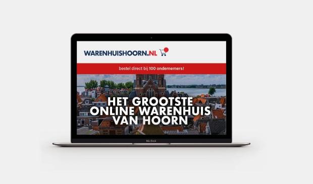 De gemeente Hoorn, Ondernemers Stad Hoorn, HOC, HOF en Voor een mooie stad bouwen samen met ZZP'ers uit de stad een groot online warenhuis.
