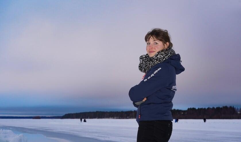 Chantal Hendriks waar ze zich prettig voelt: in de zware omstandigheden van Zweden. ,,Ik ben héél kritisch op mezelf. Misschien af en toe te veel.'' (Foto's Timsimaging)
