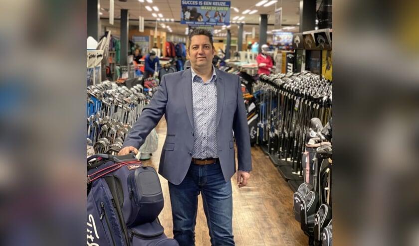 Edwin Dirne, de nieuwe maar meteen vertrouwde eigenaar van Golfplaza.