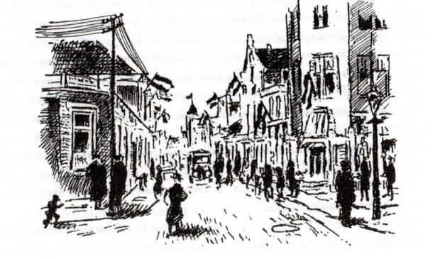 Impressie pentekeningen van Henk Schoorl.