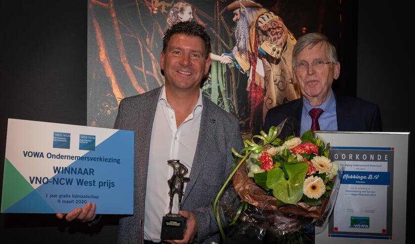 Edwin Boelsz en Leo Kubbinga waren dolblij met de prijs.