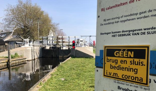 Ook de Luijendijksluis in Landsmeer blijft dicht.