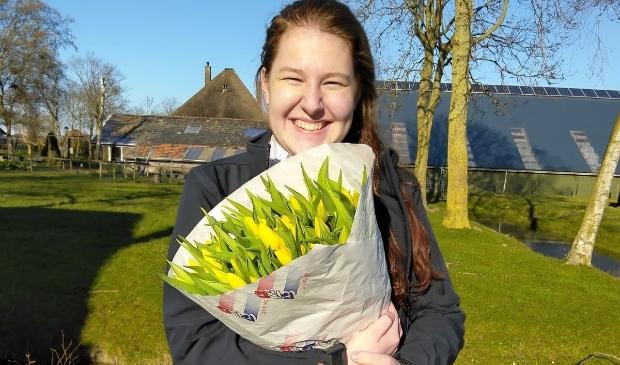 Linda de Rooij is de eerste student van Inholland Alkmaar die via Skype haar diploma behaalde.