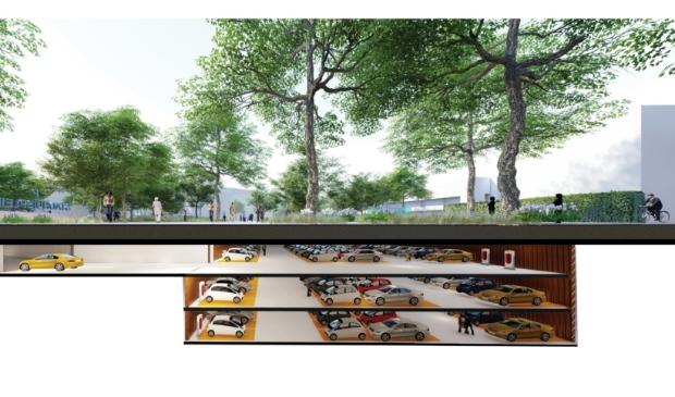 Is het wel zo'n goed idee om bij het stadhuis een ondergrondse parkeergarage te bouwen?, vraagt Z Lijner zich af.