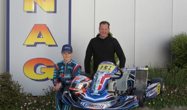 De 12-jarige karter uit Assendelft werd in 2019 kampioen in de Mini 60cc en stapt dit jaar over naar de IAME X30 Junior.
