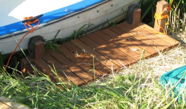 Steigertjes maken in de polder is verboden, gelukkig voor mening bootbezitter wordt er vaak een oogje dichtgeknepen.