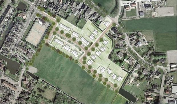 In Waarland wordt het nieuwe woonwijkje Adamsland ontwikkeld.