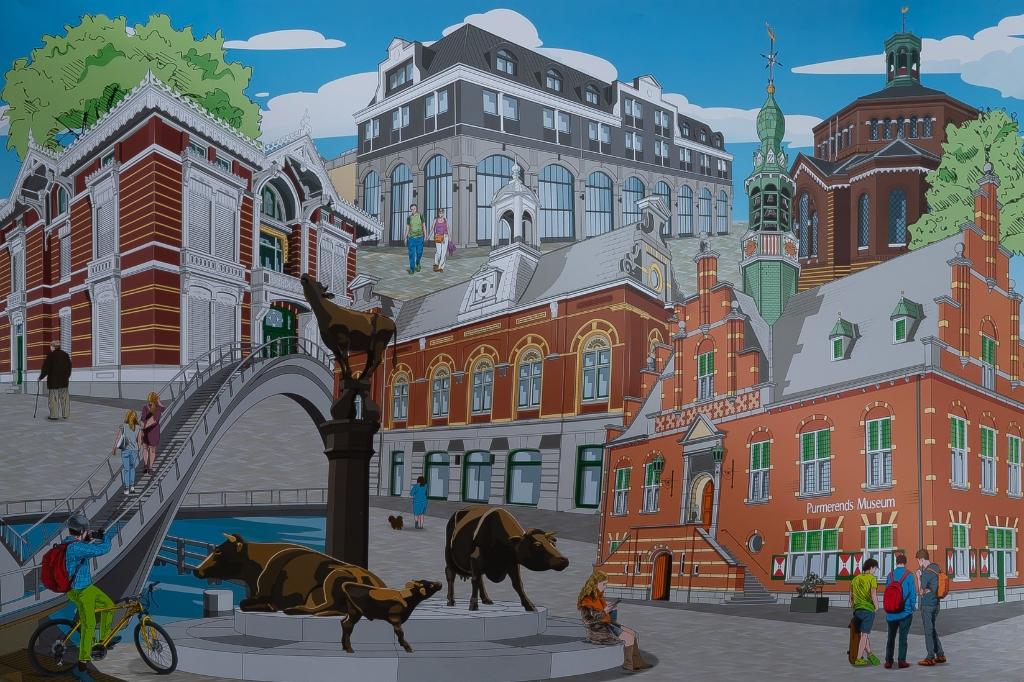 De puzzel geeft een goed beeld van er de afgelopen 10 jaar in de binnenstad allemaal tot stand is gekomen.   (Foto: Han Giskes) © rodi