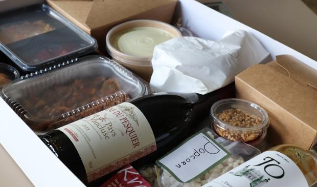 Heerlijkheid in een doos bij restaurant d'Olifant.