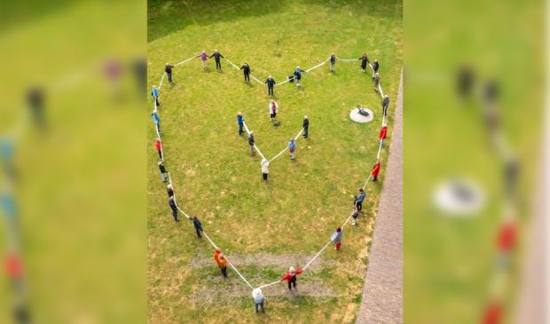 <p>Actievoerders in Enkhuizen op de bres voor vluchtelingenkinderen.</p>