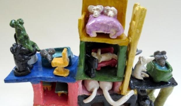 Een van de werken die worden tentoongesteld in Heiloo.