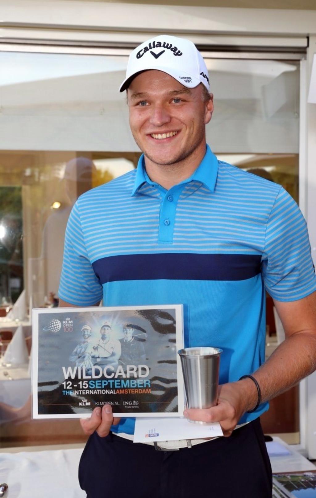Geurts na het Dutch Amateur met de wildcard voor het KLM Open. (Foto: ) © rodi