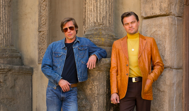 Leonardo DiCaprio en Brat Pitt in Once Upon a Time in...Hollywood.