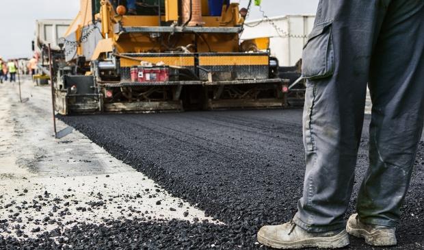 Vervanging van het asfalt.