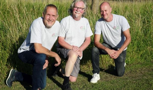 Drie van de bedenkers van de grote Besselingen-reünie. V.l.n.r.: Harry Custers, Piet Besseling en Gerry Besseling.
