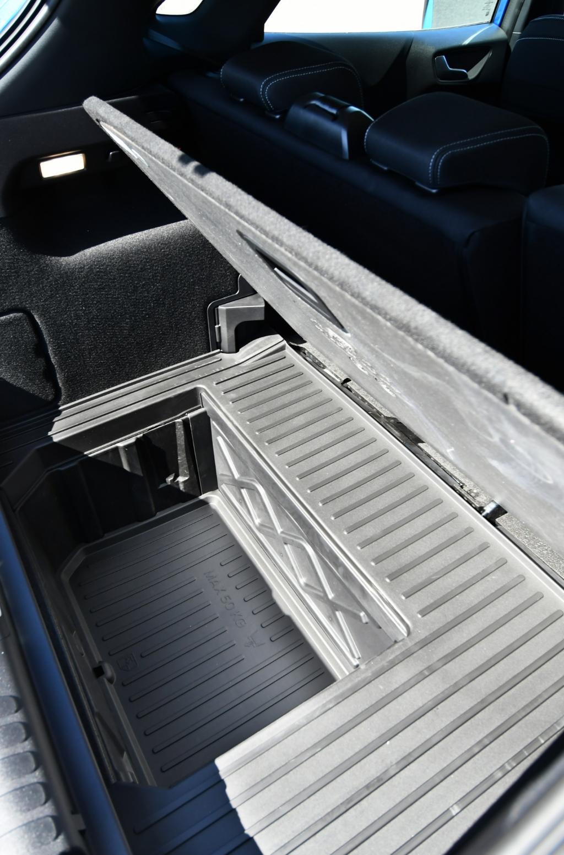 De Ford MegaBox biedt 80 liter extra bagageruimte. Ideaal om een golftas in te vervoeren of lange kamerplant.  © rodi