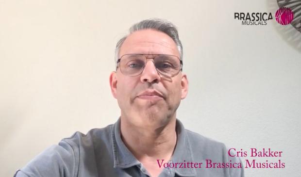 Brassica Musical voorzitter Cris Bakker nodigt publiek uit voor voorstelling in 2021.