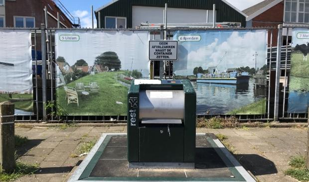 Ondergrondse afvalcontainers in Marken worden in augustus geplaatst.