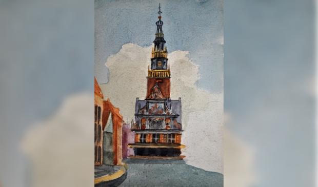 Een portret van de Grote Kerk door schilder Hendrik Pieterse.